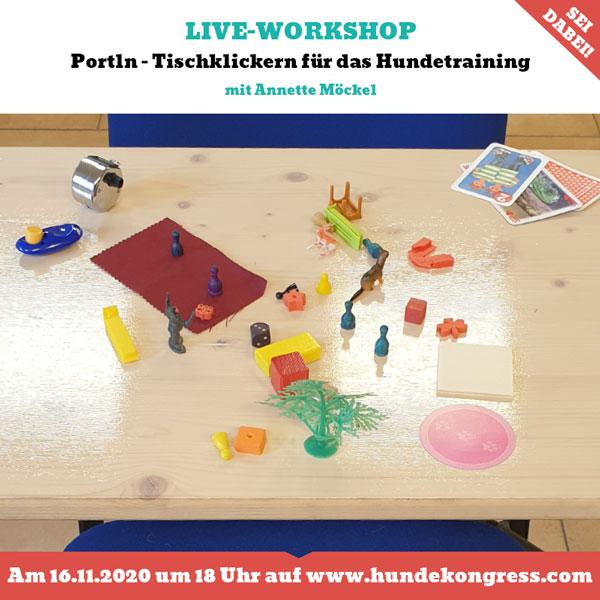 Workshop: Portln - Tischklickern für das Hundetraining